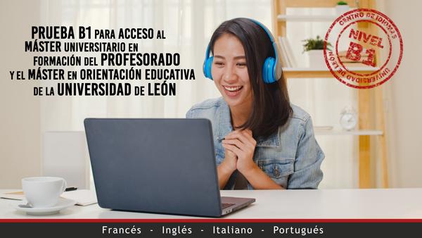 Prueba B1 para acceso al máster de la Universidad de León